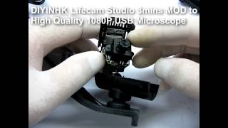 DIYINHK Lifecam Studio 3mins MOD to High Quality 1080P USB Microscope