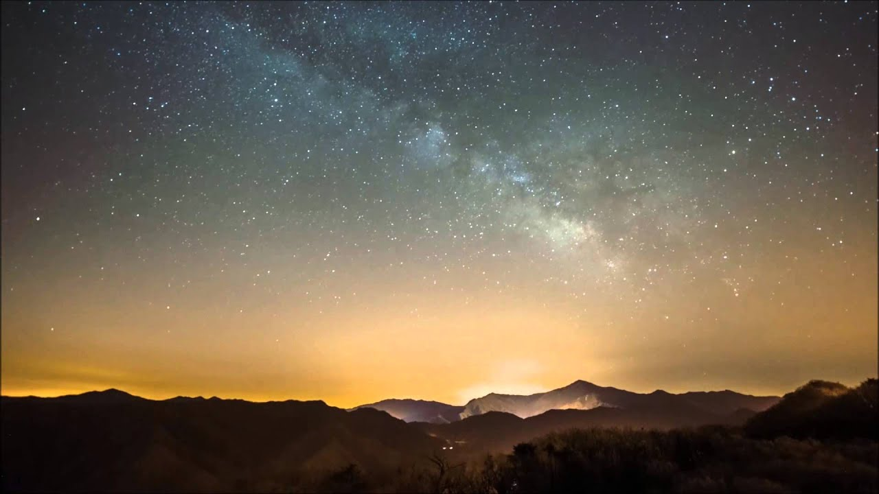 Beautiful images the galaxy time lapse