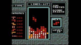 NTSC NES Tetris - 820k on lvl 19 start