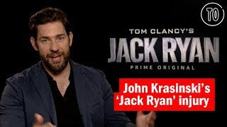 John Krasinski on shattering his knee while filming 'Jack Ryan'