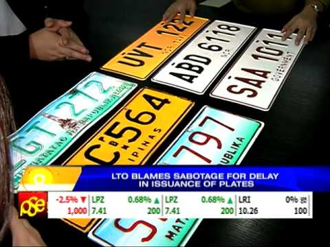 LTO blames 'sabotage' for delayed delivery of plates