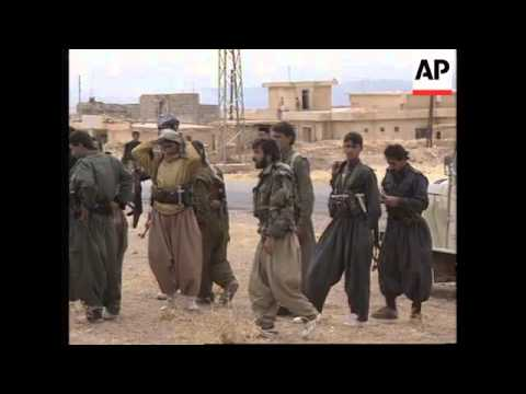 NORTHERN IRAQ: IRANIAN TROOPS WITHDRAW AS FIGHTING EASES