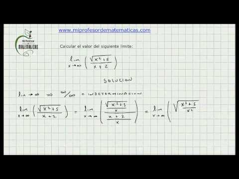 Ejercicio Aplicacion Limites con Indeterminacion - Calculo General - Video 039