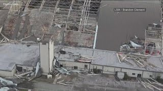 Drone video shows Hurricane Michael