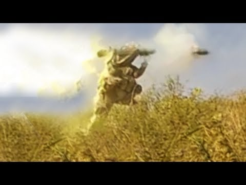 Carl Gustav Recoilless Rifle Fired At Taliban During Firefight - Slow Motion - 2 Angles