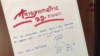 Axisymmetric (2D) element problem | Finite element Analysis | FEA in Tamil