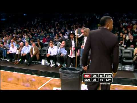 Rain Delay in the NBA? | Barclays Center Nets vs Heat