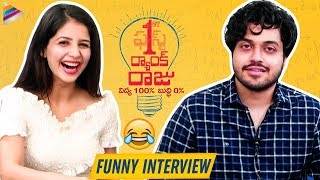 First Rank Raju FUNNY Interview | Chetan | Kashish Vohra | Brahmanandam | 2019 Telugu Movies