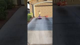Slow motion riding the mini mini cooper