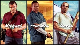 Grand Theft Auto V_ Michael. Franklin. Trevor.