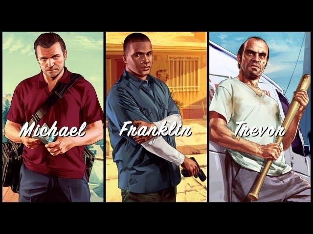 Три новых трейлера GTA 5 про главных персонажей