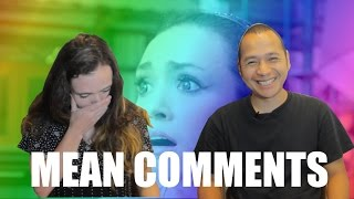 Sacha reads mean comments with her husband