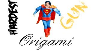 Origami Master - Awesome Origami Of Superman - Hard
