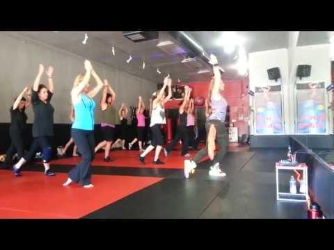 Eartha Baca Zumba Fitness Sherman Oaks Rock Stars, bellydance Cool Down video
