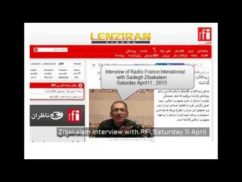 Hassan Rouhani speech about sanction of wheat and controversial response of Sadegh Zibakalam