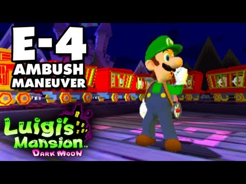 Luigi's Mansion Dark Moon - Treacherous Mansion - E-4 Ambush Maneuver (Nintendo 3DS Walkthrough)