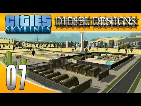 Cities: Skylines: S3EP7: Military Base and City Name! (City Building Series 60FPS)