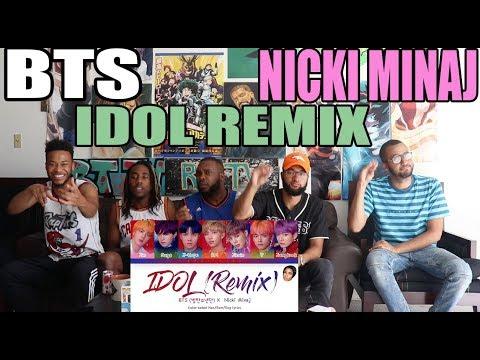 BTS - IDOL REMIX FT NICKI MINAJ REACTION/REVIEW