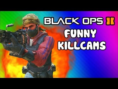 Black Ops 2 Funny Killcams - Dive Shot. LMG Quick Scopes. 360 Wall Bang (Trolling / Funtage)