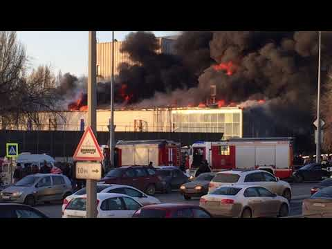 Пожар 09.04.18 г.Самара рядом с КРЦ Звезда