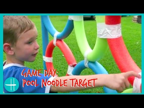 GIANT pool noodle target ball game backyard BALL games family fun playtime kids hopes vlogs how to