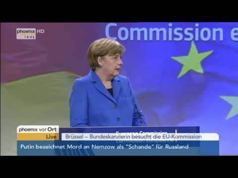 EU-Kommission: PK mit Angela Merkel & Jean-Claude Juncker zum Ukraine-Konflikt am 04.03.2015