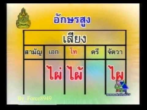 ภาษาไทยหรรษา ผันวรรณยุกต์อักษรสูงและอักษรต่ำ 2of2 Force8949