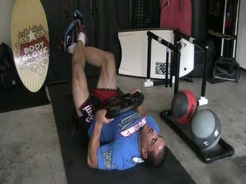 Randy Couture's 45 pound weight routines, variations, www.ProFightNetwork.com Image 1