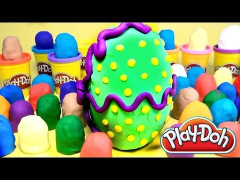 50 Play Doh Eggs Surprise Eggs Peppa Pig Marvel Heroes Mickey Mouse Cars 2 Kinder