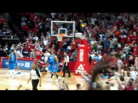 Chandler Parsons gaming tying 3 point shot vs Dallas Mavericks 3.24.2012