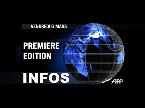 AFP: Le JT, 1�re �dition du vendredi 6 mars. Dur�e: 01:56