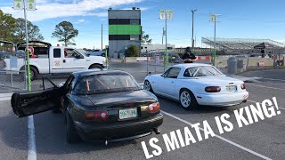 Fastest Miata On Youtube!? LS Miata VS Ricer Miata and TommyFyeah