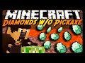 Minecraft: Diamonds WITHOUT a Pickaxe or TNT! (Survival Challenge)