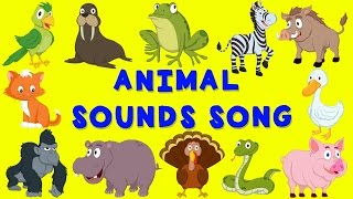 Animal Sounds Song | English nursery rhyme | Baby Song for children