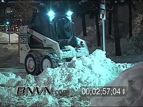 Various Snow Clean Up Video Shot At Night
