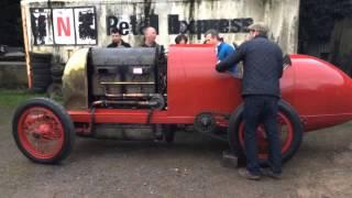 1911 28.4 litre Fiat S76 first start up - 28 November 2014