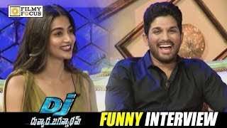 Allu Arjun and Pooja Hegde Funny Interview About DJ - Duvvada Jagannadham Movie