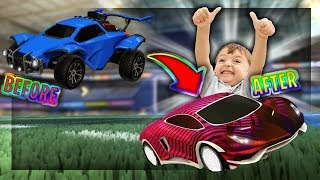 SURPRISING KID FAN WITH DREAM CAR | *INSANE ITEMS* | Rocket League