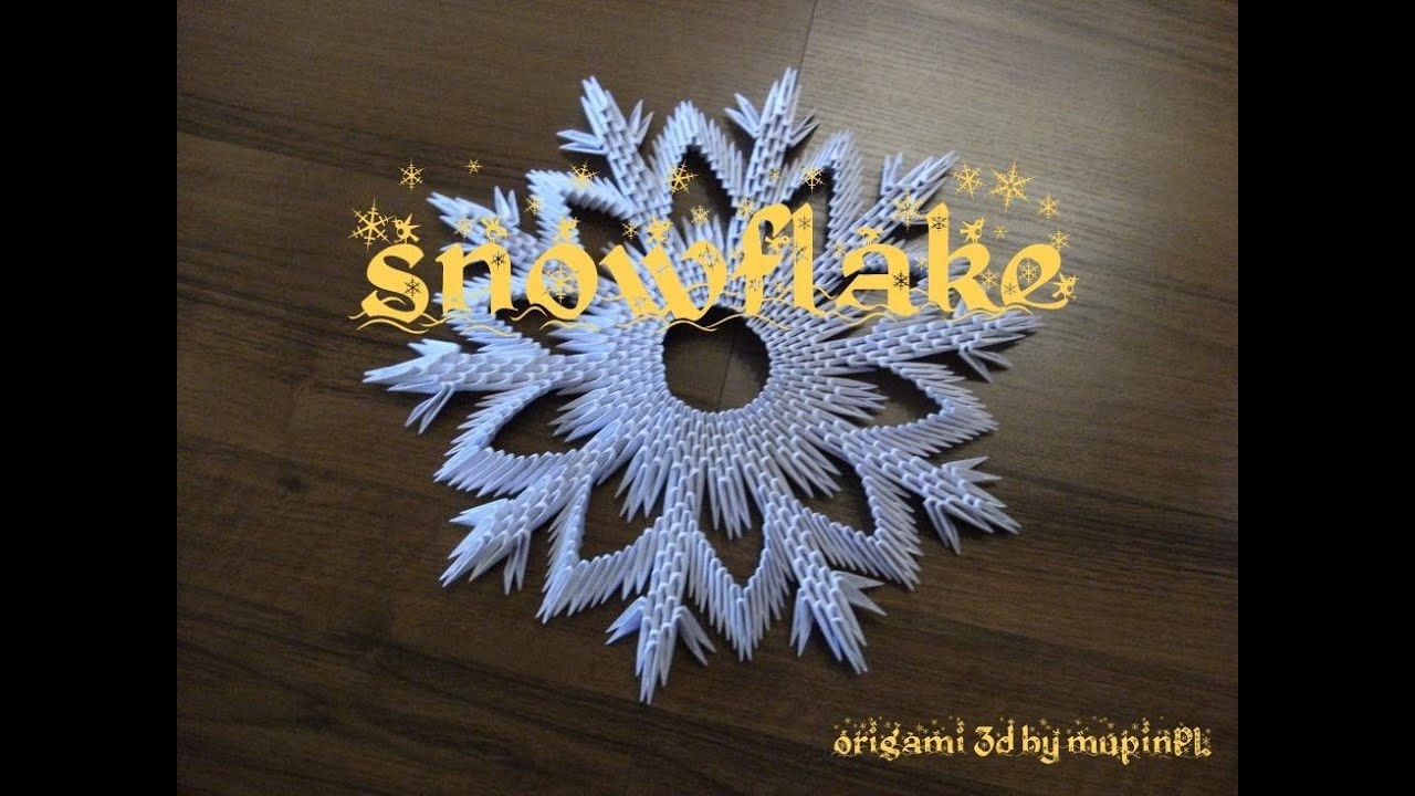 3d Origami Snowflake How To Make Instruction Youtube