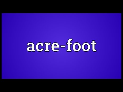 Header of acre-foot
