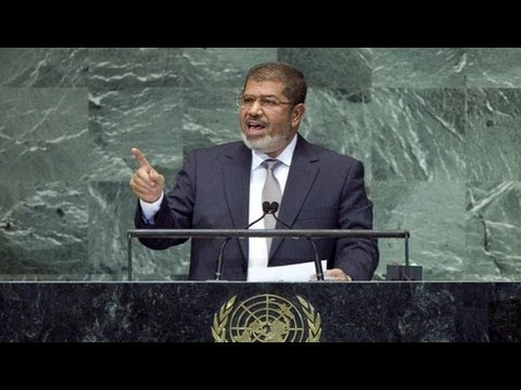 Egypt's Morsi Takes UN Center Stage on Syria and Palestine