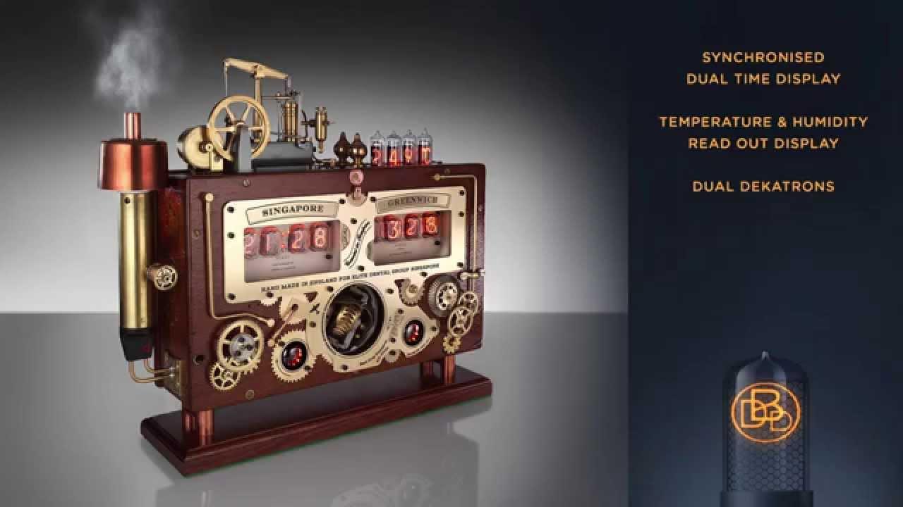 Электронные часы в стиле стимпанк