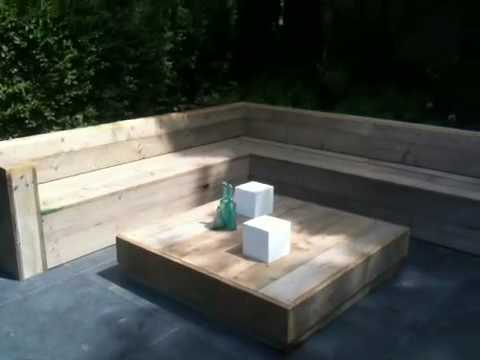 Hoek loungebank maken van lariks of steigerhout youtube