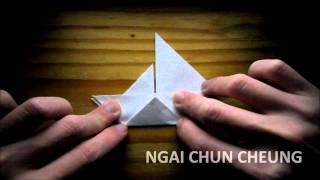 Origami Paper Sailboat (tutorial)