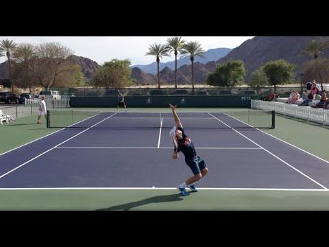 Ernests Gulbis Dominic Thiem 2014 Indian Wells Practice 3.3.14 BNP Paribas Open