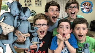 SILICONE AVATAR BABY TWINS! BOYS REACTIONS! *AMAZING!*