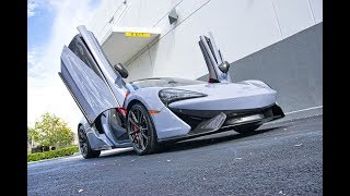 2018 McLaren 570S Spider Stunning Supercar Ride Interior Exterior Acceleration Incredible Sound