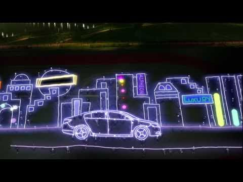 Huge light drawing viral video - A great number of people