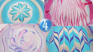 4 water marble color combinations for winter!