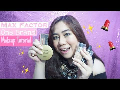 MAX FACTOR ONE BRAND MAKEUP TUTORIAL